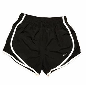 Nike Dri-Fit Black White Running Shorts XS